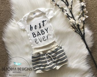 Best Baby Ever Onesie | Black & White | Monochrome | Baby Boy | Baby Girl