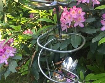 Butterfly Silverware Twirl Garden Stake