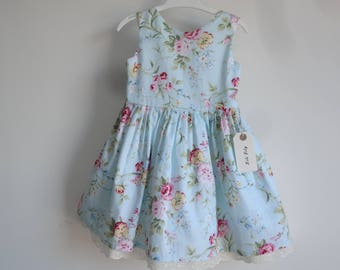 Handmade Garden Flowers Girl Dress Age 2-3 Years