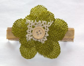 Rich Warm Fall Colors abound in this Elegant Flower Barrette!
