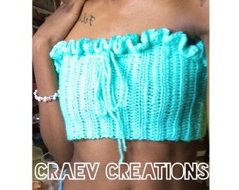 Ruffled Crochet Tube Top