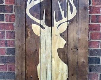 Deer Wooden Pallet Sign