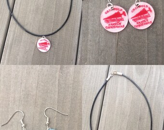 Christmas, winter, holiday earrings, necklaces or bracelets