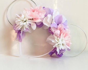 Floral Wire Mickey Ears Rapunzel Theme