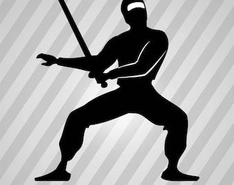 Pathetic Ninja - Svg Dxf Eps Silhouette Rld Rdworks Pdf Png Ai Files Digital Cut Vector File Svg File Cricut Laser Cut