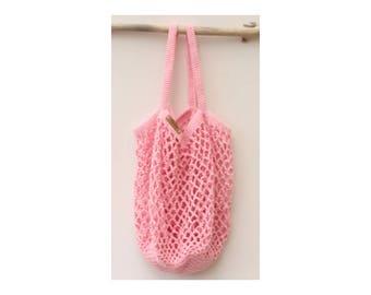 Pink crochet bag-market bag