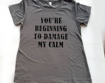 You're Beggining to Damage My Calm Shirt, Funny T-Shirt, Introvert Gift, Firefly Quote, Firefly T-Shirt, Captain Mal Shirt, Firefly Gift