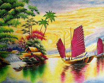 Ha Long Bay Stone Painting