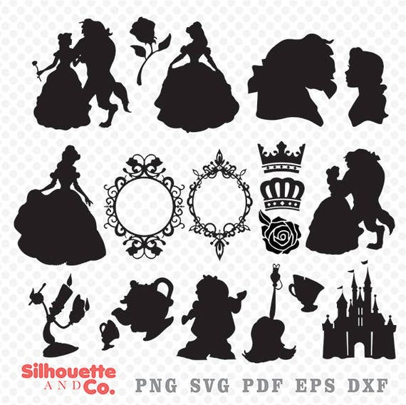 Beauty And The Beast SVG DXFPrincess Belle Clipart Svg Png Vector