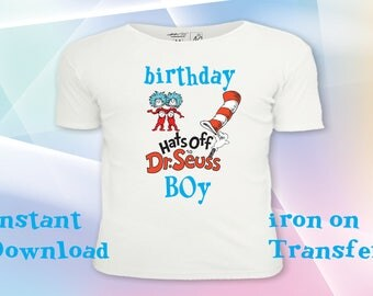 Dr Suess t-shirt, iron on transfer, Dr Suess tshirt, Dr Suess party, Dr Suess birthday- Printable