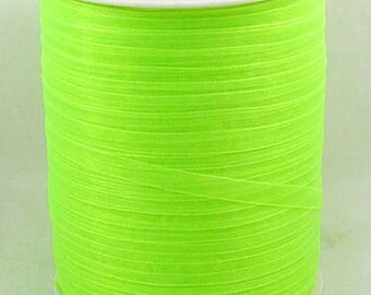 10 m width 6 mm Apple green organza Ribbon