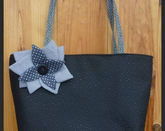 Faux ostrich leather handbag