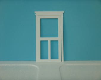 White glass door cutout for scrapbooking and card