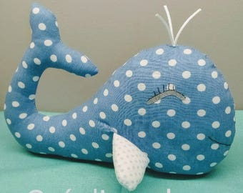 Plush Toy blue whale on order