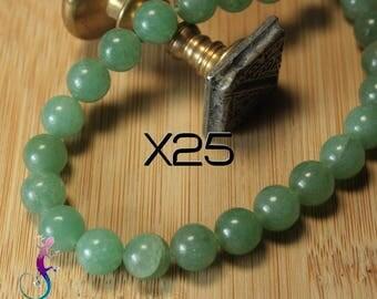 25 8mm aventurine beads