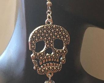 """Earrings """"death's head"""" very trendy..."""