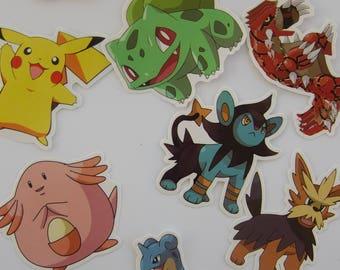 Set of 10 Pokemon Stickers