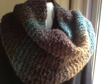"""SNOOD """"Autumn"""" containing MOHAIR and wool for comfort and warmth"""