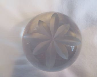 Clear Glass Paperweight