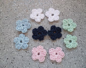 Pretty little handmade cotton flowers 10