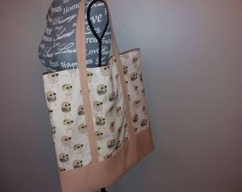 Bag original salmon pink linen