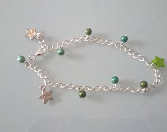 Beaded ankle chain