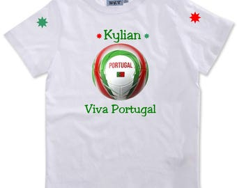 Viva Portugal boy personalized with name t-shirt