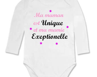 Baby Bodysuit Mommy's and Grandma