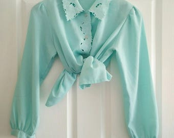 Vintage Mint Green Blouse
