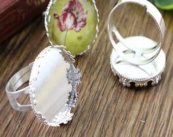 20mm: 1 ring adjustable silver ring 20mm