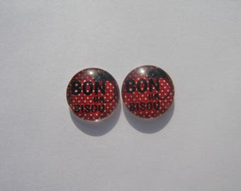 Set of 2 cabochon 14 mm with their images great for a kiss