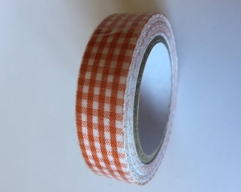 ORANGE GINGHAM masking tape: