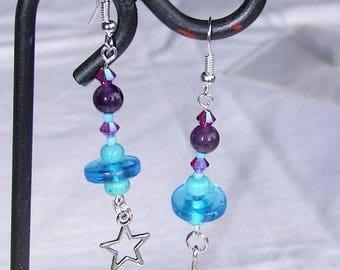 """Earrings """"water"""" / BO VINT3"""