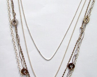 long necklace five different chains