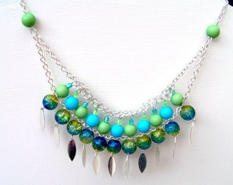 """""""lagoon"""" bib necklace or MULTISTRAND necklace"""