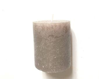 Beige candle round home decoration
