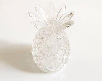 Salt & pepper shakers pineapple glass