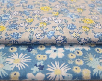 2 coupons flowery cotton 50 * 80 cm