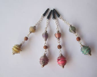 Jewelry mobile seed acai and paxi on silver findings
