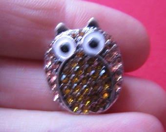 snap 22mmx19mm metal theme owl