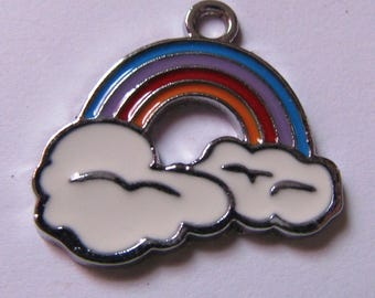 cloud rainbow pendant 21mmx23mm