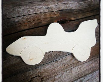 raw blank wooden car / painting