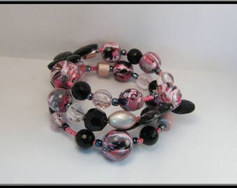 Memory bracelet beads Fimo and synthetic pearls