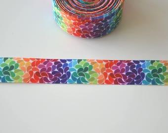 "Ribbon grosgrain Ribbon ""PETALS"" multicolored 22mm"