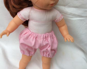 Pink cotton bloomers doll 36 cm