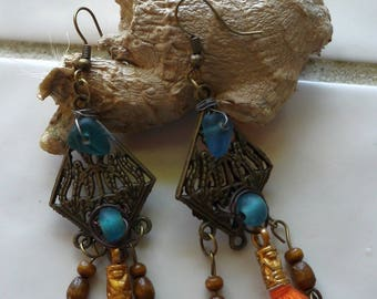 "Earrings boho Chic earrings, ethnic earrings, ""Victoria"", gift idea"
