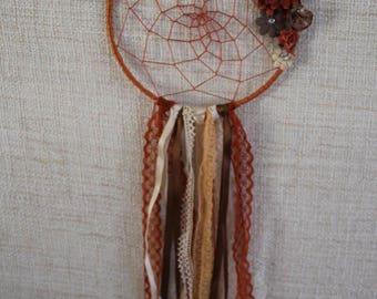 Dream catcher is made entirely by hand