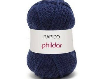 """Garance"" wool rapido indigo color"