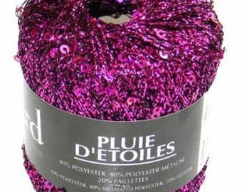 shiny and glittery wire fantasy No. 11 purple fuchia star rain boud'chou