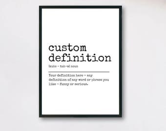 Custom definition etsy custom definition printable personalized definition custom gift personalised print custom dictionary quote stopboris Choice Image